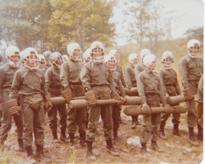 Cadets awaiting their turn at the Bayonet Assault Course, Summer 1979. Photo courtesy of Jan Tiede Swicord, USMA '83.